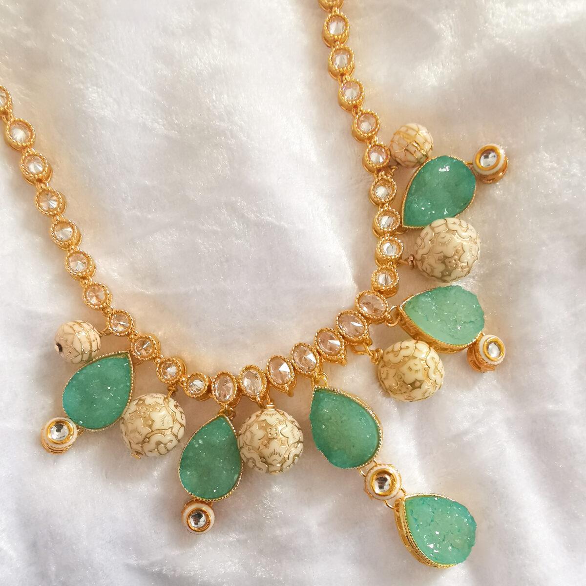 SATI – Green/Blue Custom Made Necklace