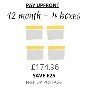 Subscription Boxes - Prepay 12m
