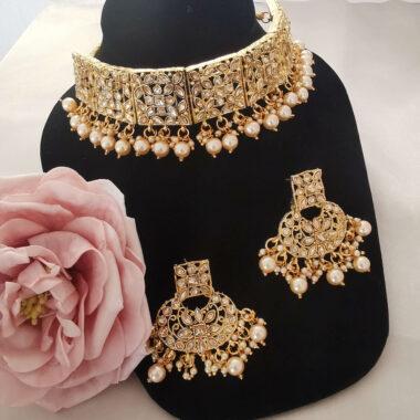 SITA – Gold Choker & Earring Set
