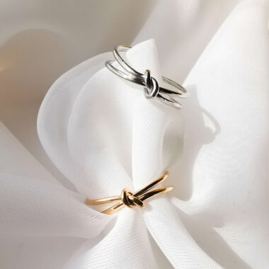 AccentsUK Adjustable Knot Ring - Available in Gold & Silver