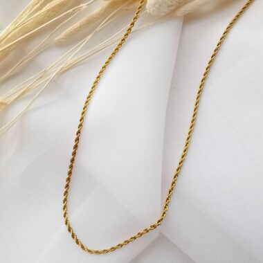 AccentsUK Gold Rope Twist Necklace