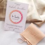 AccentsUK Raksha Bandhan Gift Set - Multi Tourmaline Adjustable Bracelet and Customisable Card
