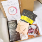 AccentsUK Ultimate Raksha Bandhan Gift Set - Multi Tourmaline Adjustable Bracelet, Green & Blacks Dark Chocolate, Customisable Card, Chamomile Tea, Affirmation Gratitude Cards